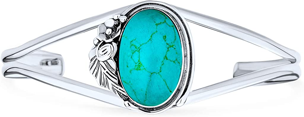 Sterling Silver Teal Blue Glass Rhinestones Flower Bracelet