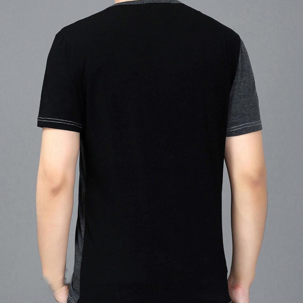 Mikkar Mens Tops Splic T Shirts Leisure Self Cultivation Short Sleeves Clearance