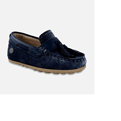 Mayoral Mocasines de Piel Para Niño Azul Marino 21 EU Azul Size: 24 EU: Amazon.es: Zapatos y complementos