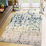 Super Area Rugs Mohali Collection Updated Traditional Vintage Faded Area Rug, 8' X 10',Ivory