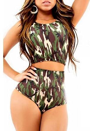 Camo print bikini