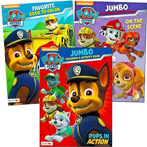Paw Patrol Coloring and Activity Book Set (3 Coloring Books) with Bonus Paw Patrol Fun Pack