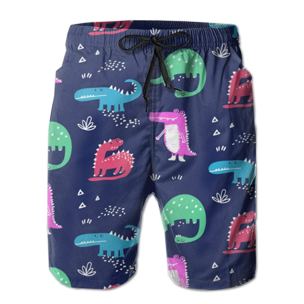 Cartoon Animals Mens Summer Beachwear Sports Running Swim Board Shorts Mesh Lining