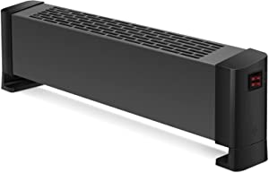 Tangkula Electric Baseboard Heater, 500W/1000W Fast Heating Base Board Floor Heater w/ Tip-over & Overheating Protection, Baseboard Convection Heater w/ Silent Operation for Home & Office