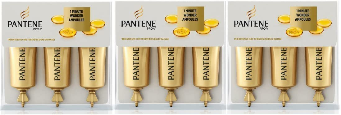 3x Pantene 1minuto Wonder ampollas 15ml 3unidades