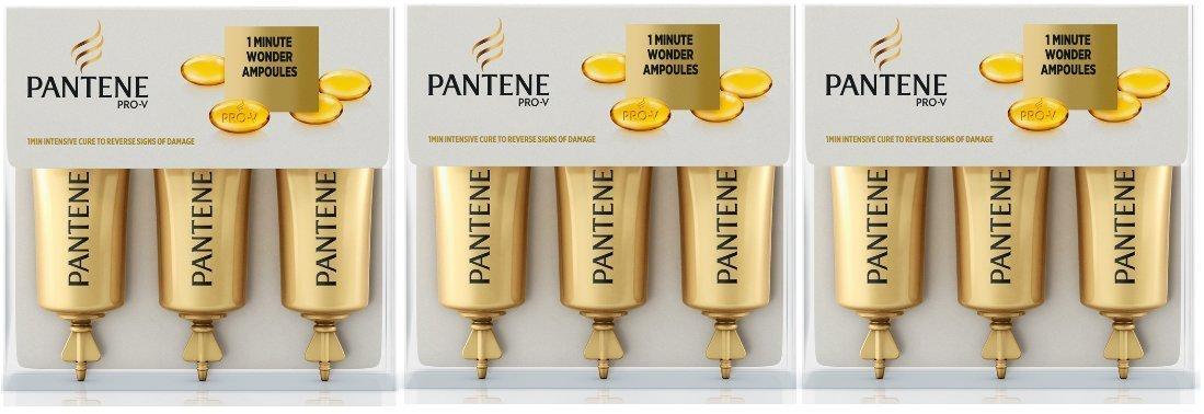 Pantene 1 Minute Wonder Ampoules 3Lot de 3 ampoules 15ml
