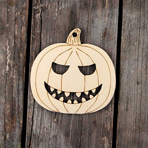 - Halloween Decoration Home Decor Seasonal School Projects Wooden Craft DIY Pumpkin Ghost Bat Spider Shapes