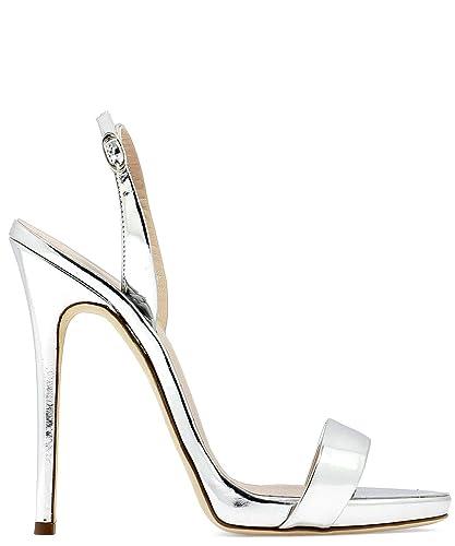 f1b5df57a Giuseppe Zanotti Design Women s I700047004 Silver Leather Sandals ...