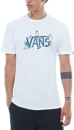 Vans Camiseta Yusuke Gang Blanco/Azul Talla: XL (X-Large): Amazon.es: Deportes y aire libre