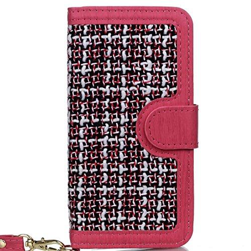EKINHUI Case Cover IPhone 6S Plus Fall-Abdeckung, spinnender Muster PU-lederner schützender Fall-Mappen-Standplatz-Fall mit Einbauschlitzen und Foto-Feld für Apple IPhone 6S plus 5.5 Zoll ( Color : 1
