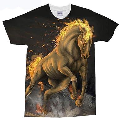 Brown Horse 3D Camiseta Impresa Camiseta Masculina Camisas de Manga Corta Viajes de Verano Top Homme Marvel Camiseta Dropship-L: Amazon.es: Ropa y accesorios