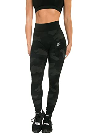 23571cea6c81f0 Jed North Women's Seamless Athletic Gym Fitness Workout Leggings Black Camo