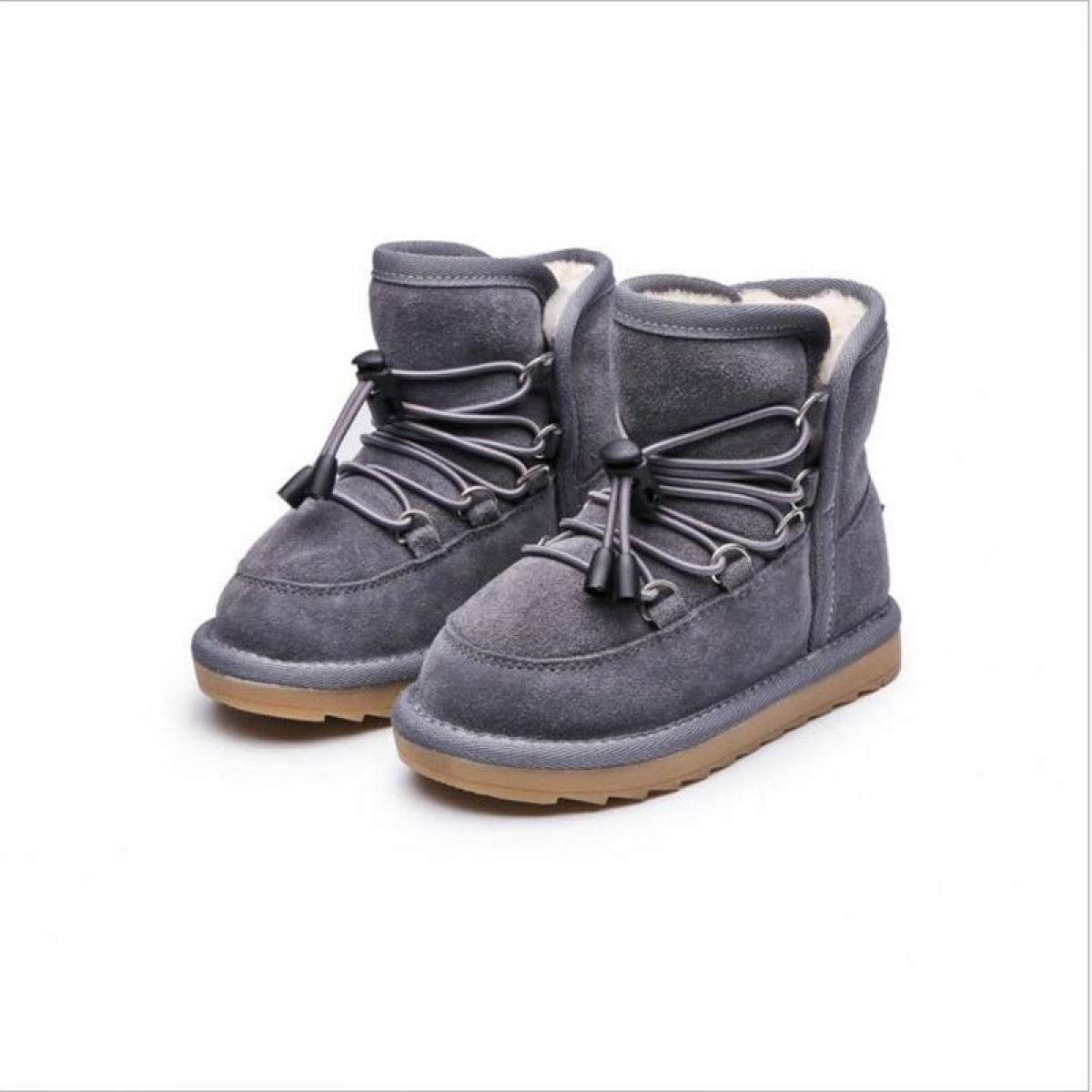 Girls Snow Boots Quality Cotton Boots Thick Fur Inside Cow Muscle Soles Shoes