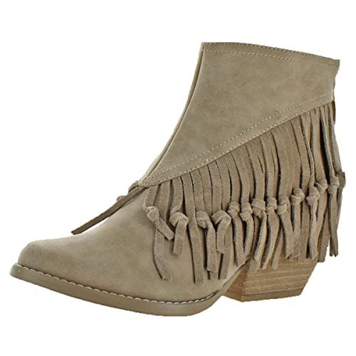 new photos official shop best choice Sbicca Womens Byanca Fringe Stacked Heel Ankle Boots
