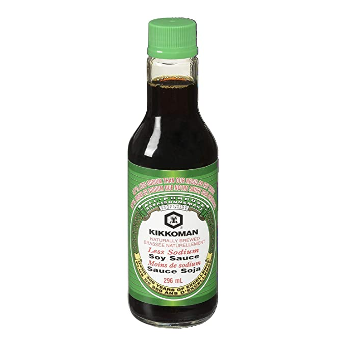 Kikkoman Soy Sauce Less Sodium, 10 oz