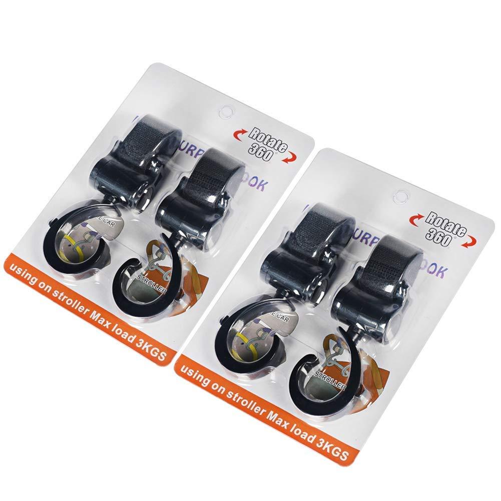Kinderwagen-Haken /& kinderwagen Clip Set Universal l/ässig kinderwagenhaken clip kinderwagen 4 Sets Kinderwagenbefestigung
