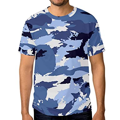 33b19b943b Image Unavailable. Image not available for. Color: Blue Equipment Reptile  Camo Men's T Shirts Graphic Funny Body Print ...