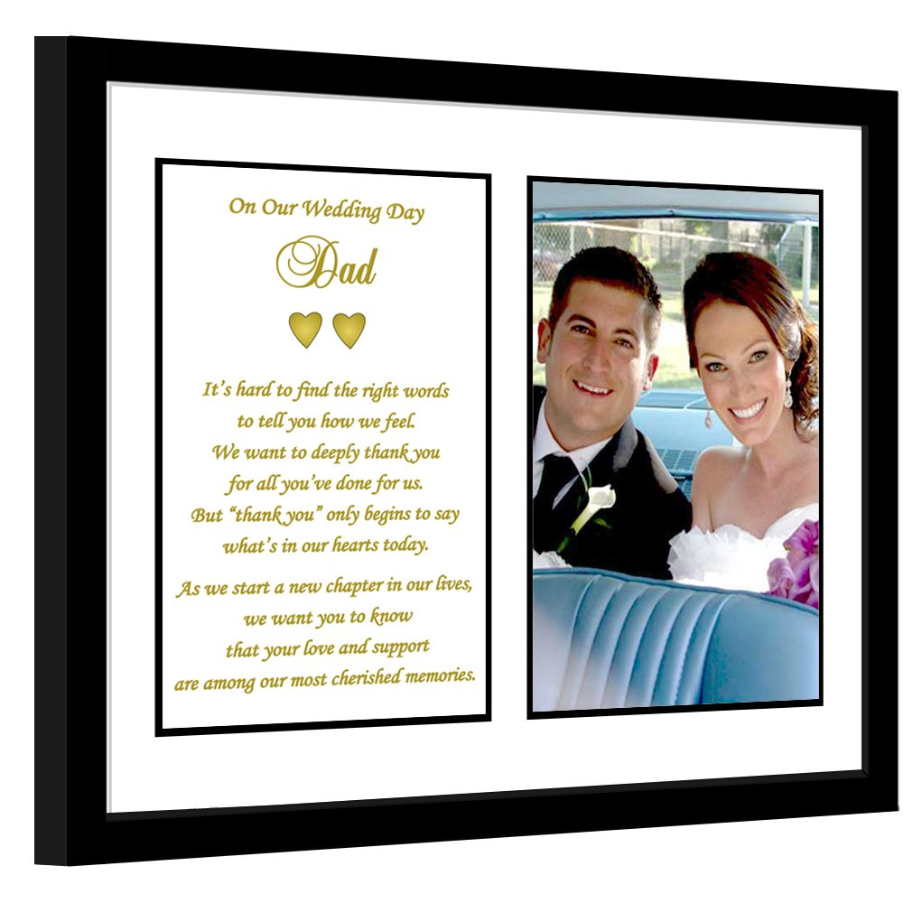 Father Thank You Wedding Gift - Poem From Both the Bride and Groom - Add Photo by Poetry Gifts
