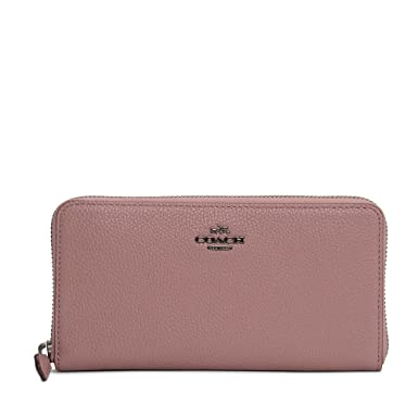 87881068c Coach Accordion Leather Zip Purse In Pink: Amazon.co.uk: Clothing