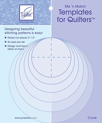 Amazon.com: June Tailor 82846 Mix\'n Match Templates For Quilters 6 ...