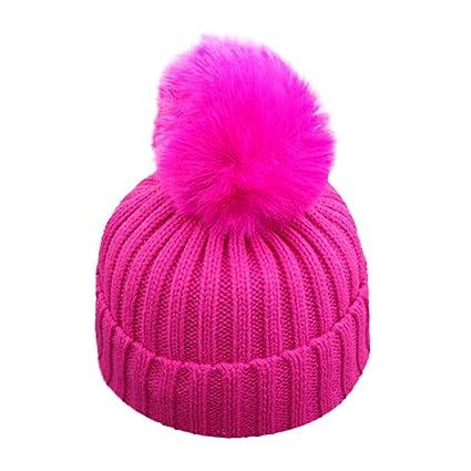 ad9d0ebaf Amazon.com: Little Kids Solid Color Winter Warm Hat,Jchen(TM ...