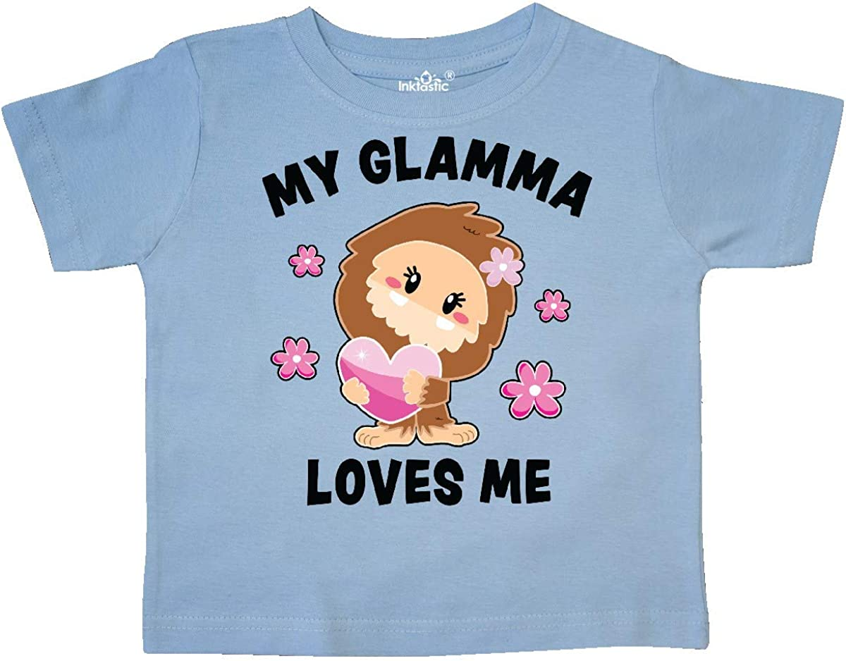 inktastic My Glamma Loves Me with Bigfoot Toddler T-Shirt