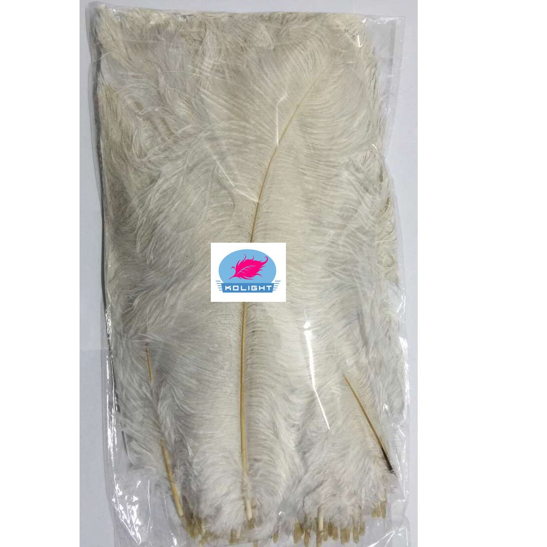 KOLIGHT 100pcs Ostrich Feather White 12''-14'' Natural Feathers Wedding, Party,Home,Hairs Decoration by KOLIGHT (Image #6)