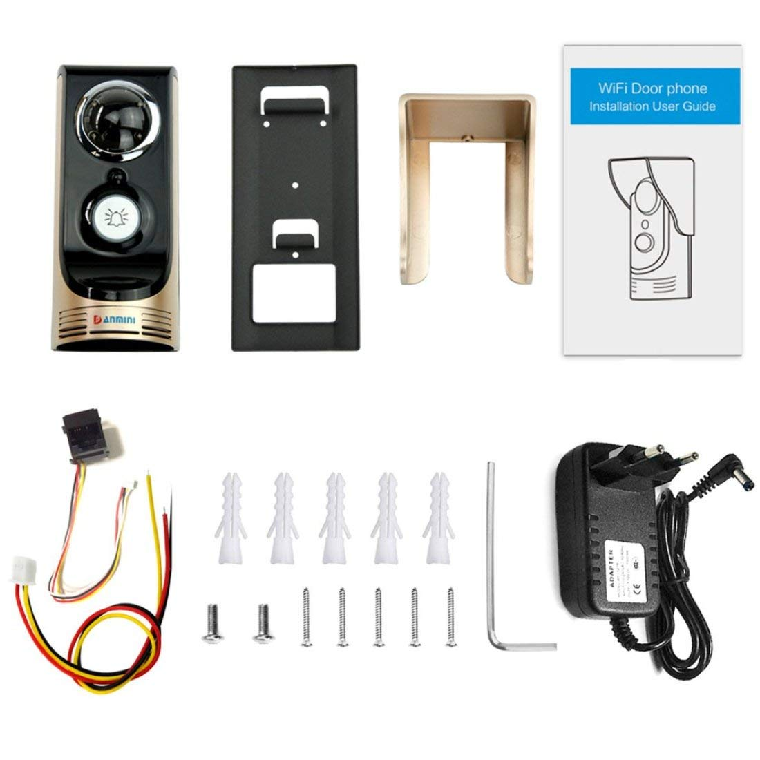 Smart WIFI Drahtlose Türsprechanlage PIR Bewegungserkennung 3 Mt 145 Grad Weitwinkel Heimgebrauch Tür Video Intercom Türklingel