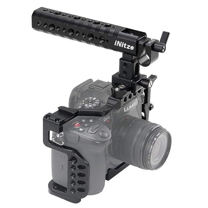 INITZE Gh5/Gh5s - Jaula para cámara Panasonic Lumix con asa ...