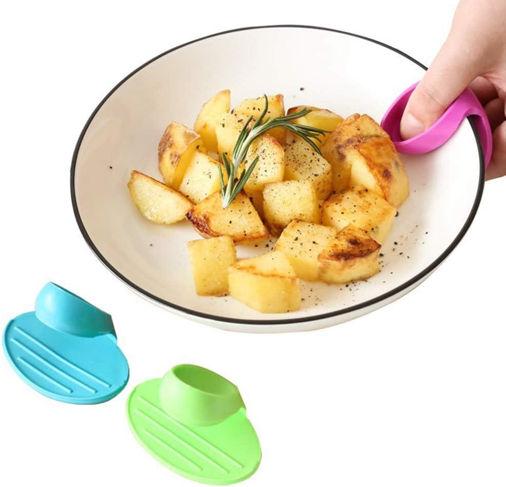 BESTONZON 2 Pcs Silicone Clips Anti-Br/ûlure Cr/éative Plateau Titulaire M/énage Cuisine Isolation Clip Couleur Al/éatoire
