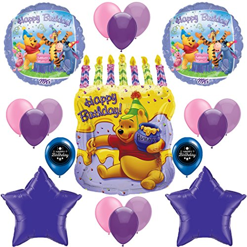 Winnie The Pooh Happy Birthday Party Supplies Balloon Decoration Bundle