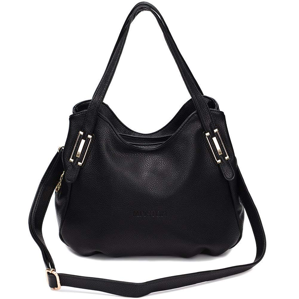 Vintga FashionTop Handle Satchel Handbag Tote Tassel Shoulder Bag Purse Crossbody Bag for Women (Black1)