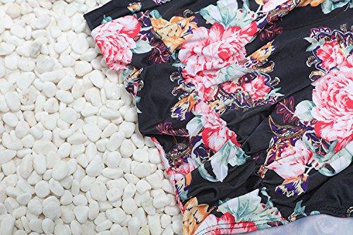 due Costume Bikini solido racchetta 2018 bagno con anni arricciato retr vintage punte da da fiocco da a bagno vita '50 a Costumi vintage con donna alta a1qd86