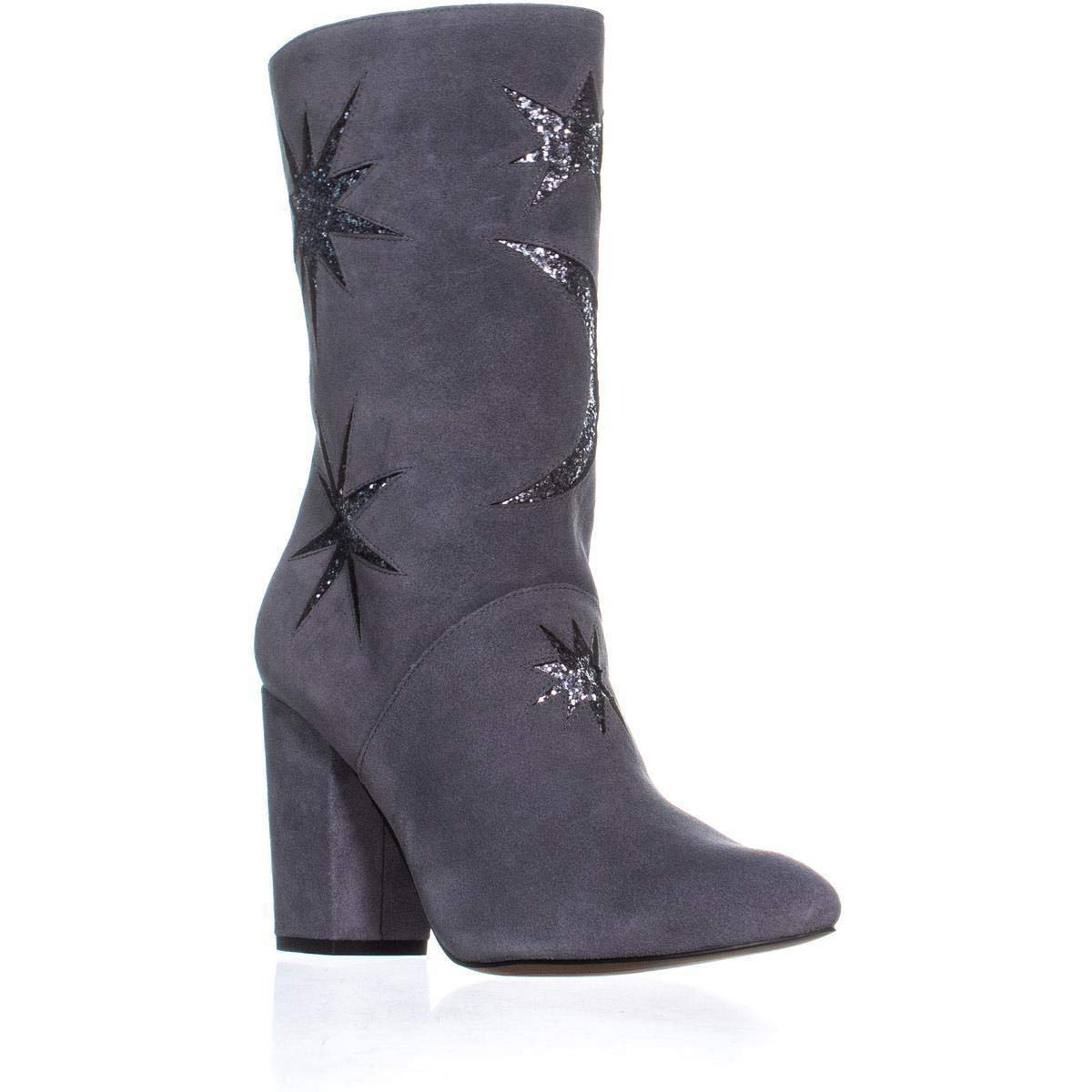 Grey Suede Glitter Avec Les Filles Womens Nikita Suede Glitter Ankle Boots