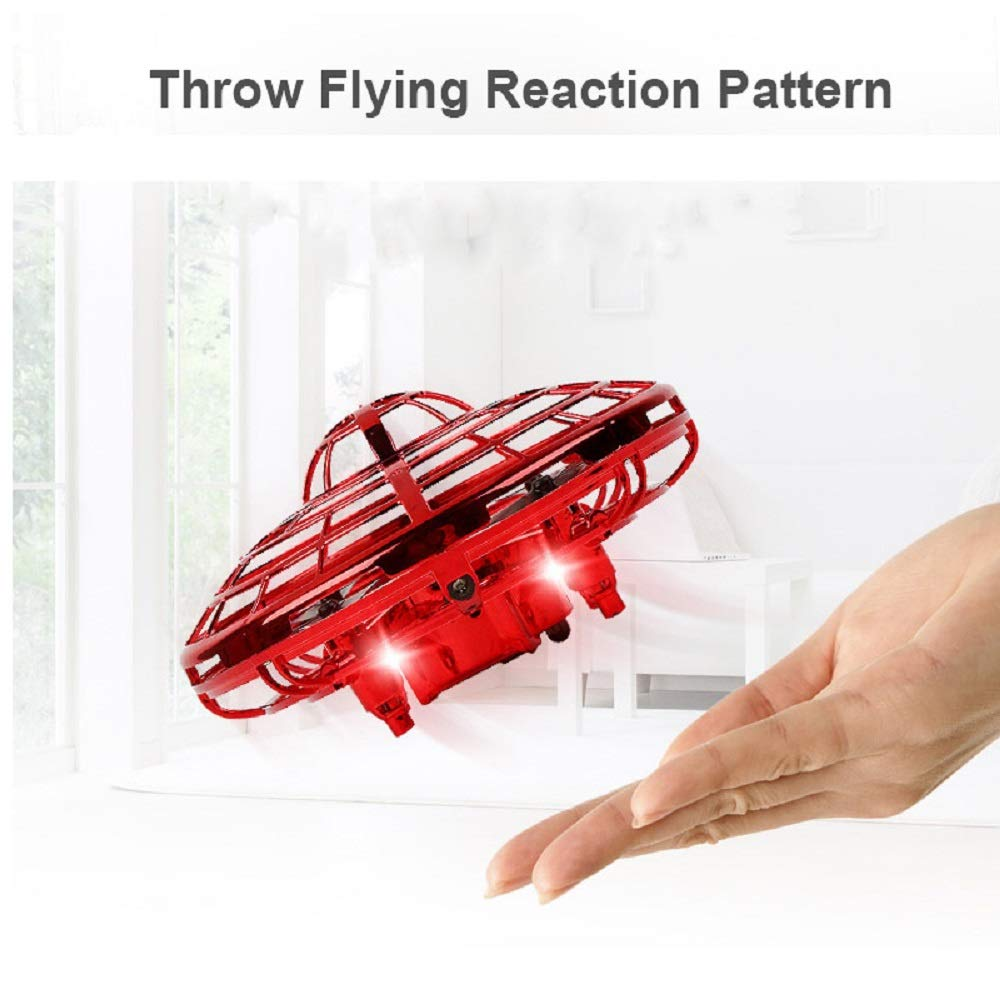 RUIMING Gravity Defying Hand-Controlled Suspension Helicopter Toy Infrared Induction Interactive Drone Indoor Flyer Toys with 360/°Rotating /& LED Lights For Kids