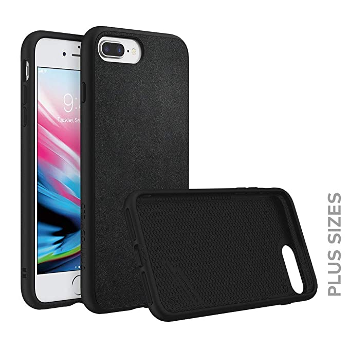 check out bb564 7839d RhinoShield Case for iPhone 8 Plus/iPhone 7 Plus [SolidSuit] | Shock  Absorbent Slim Design Protective Cover [3.5 M / 11ft Drop Protection] -  Leather