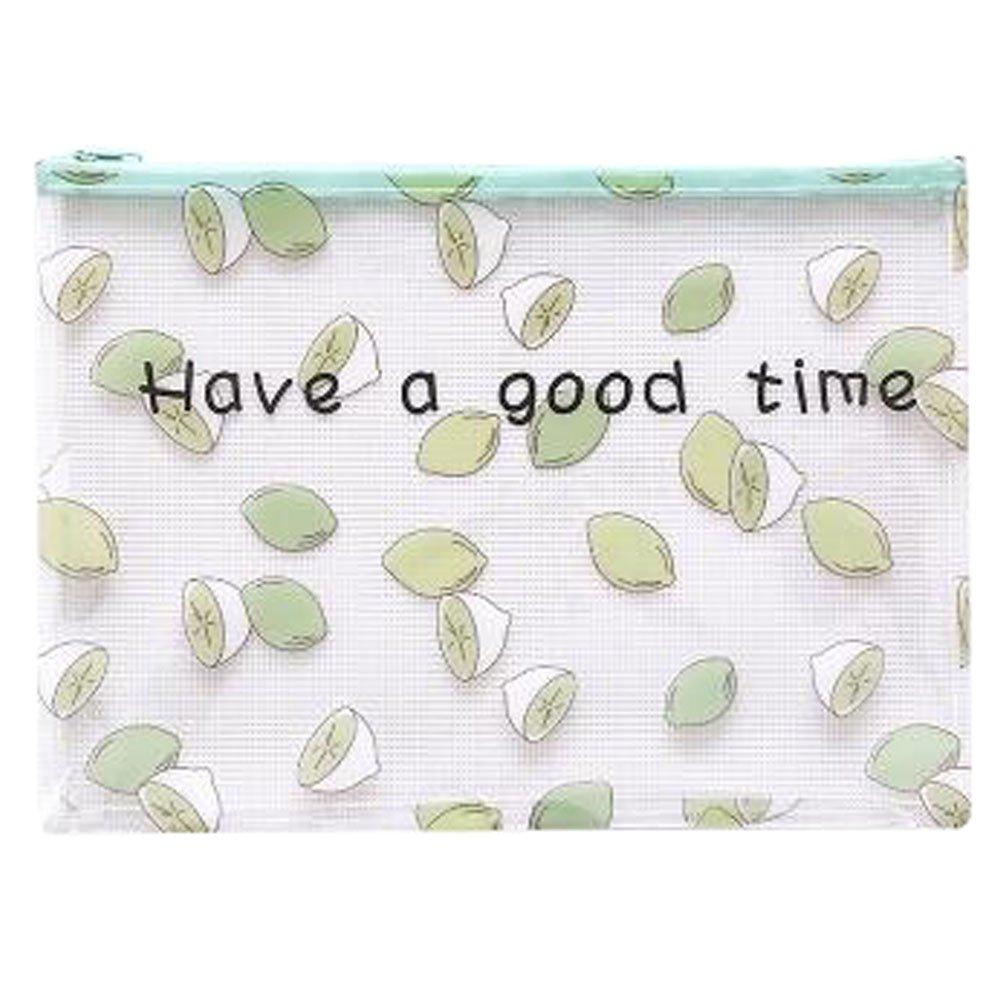 Cute File Bag Stationery Bag Pouch File Envelope for Office/School Supplies, Lemon A4