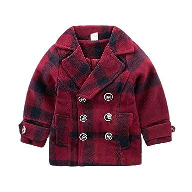 Amazon.com: Chaqueta de algodón para niñas de invierno, con ...