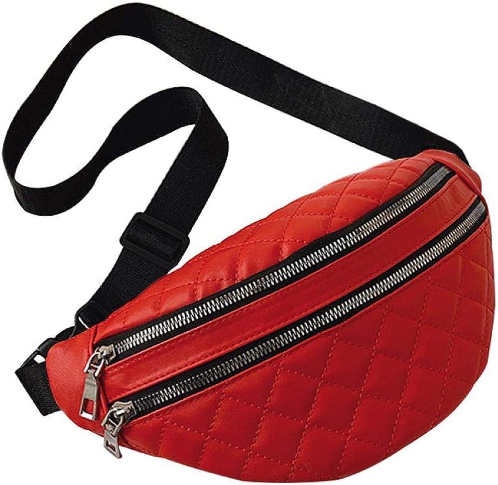 AFGH Paquete de Cintura Bolso Bandolera de Moda con Doble