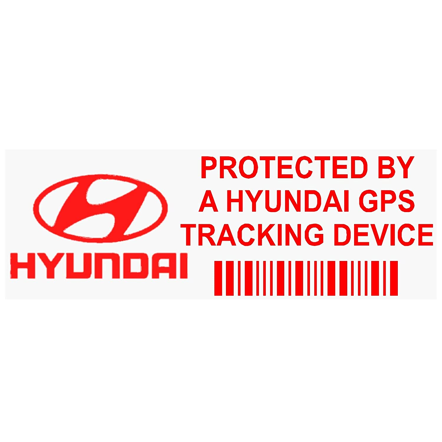 63dac00bd2 Platinum Place 5 x PPHYUNDAIGPSRED GPS RED onto CLEAR Tracking Device  Security WINDOW Stickers 87x30mm-Car
