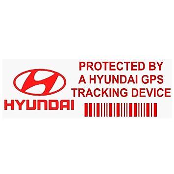 5 x pphyundaigpsred GPS rojo dispositivo de seguimiento de seguridad ventana pegatinas 87 x 30 mm