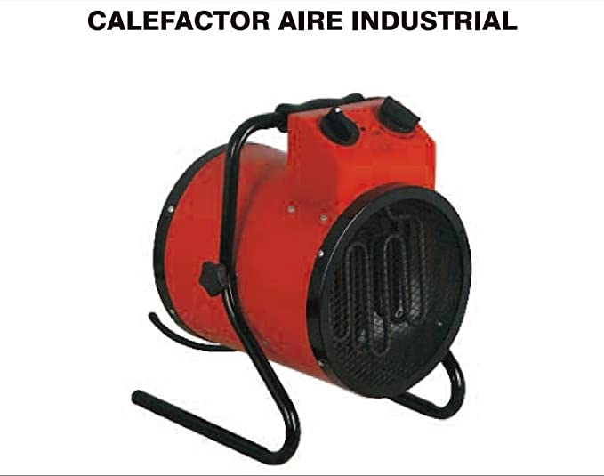 Calefactor Industrial Potente, 3000W, con termostato, regulable.: Amazon.es: Hogar