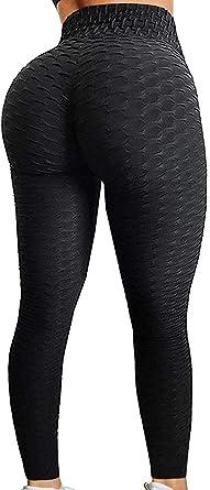 Women Anti-Cellulite Yoga Pants High Waist Leggings Push Up Scrunch Trousers Gym