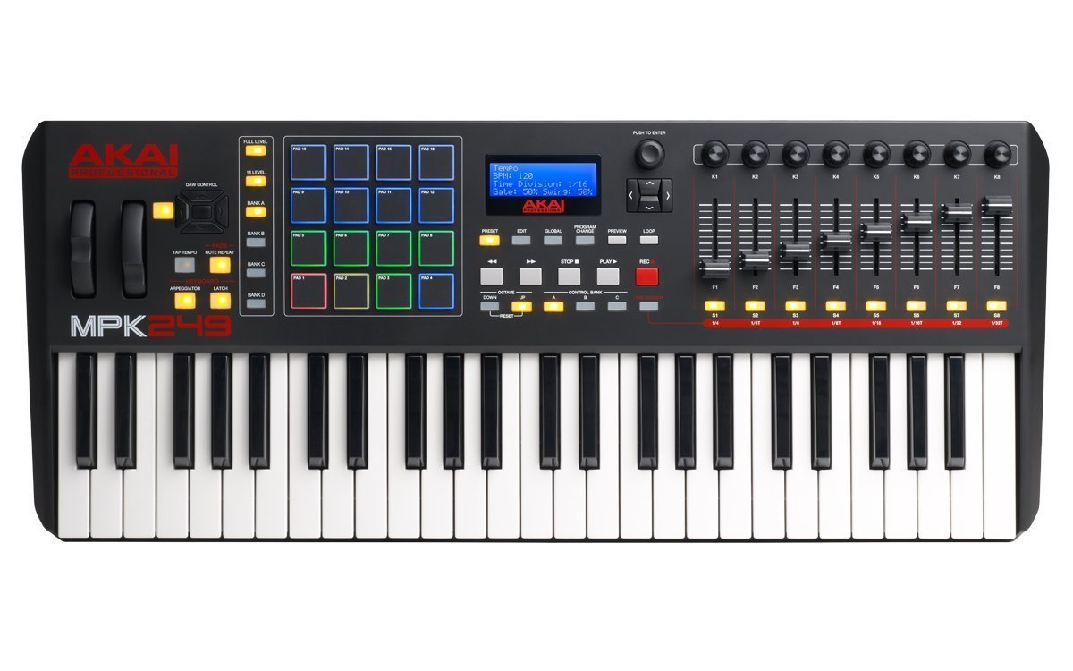 Akai Professional Compact Keyboard Controller (49-Key) with 4-Port USB 2.0 Hub + MIDI Cable Pack of Cable ties & Cleaning Cloth by Akai (Image #2)