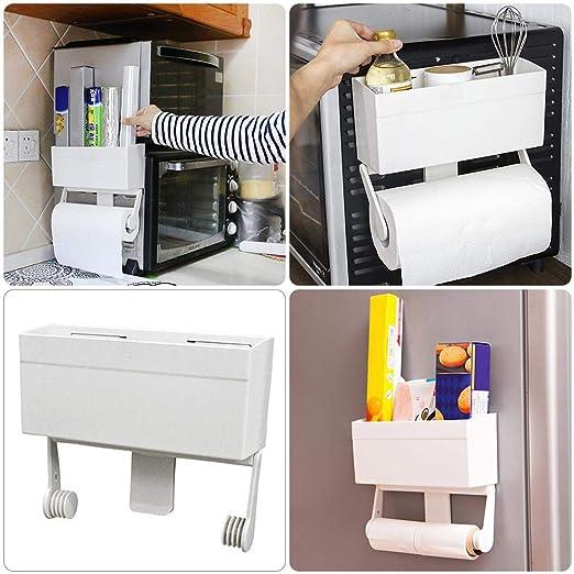 Dough.Q – Estante flotante estante de pared estante Combi de estanterías Cocina dispositivos magnética adsorción estante de almacenamiento para ...