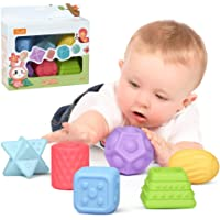 TUMAMA 6 Packs Sensory Balls for Baby Massage Stress Relief, Textured Multi Ball Gift Sets,Water Bath Toys, Toy for Kids…
