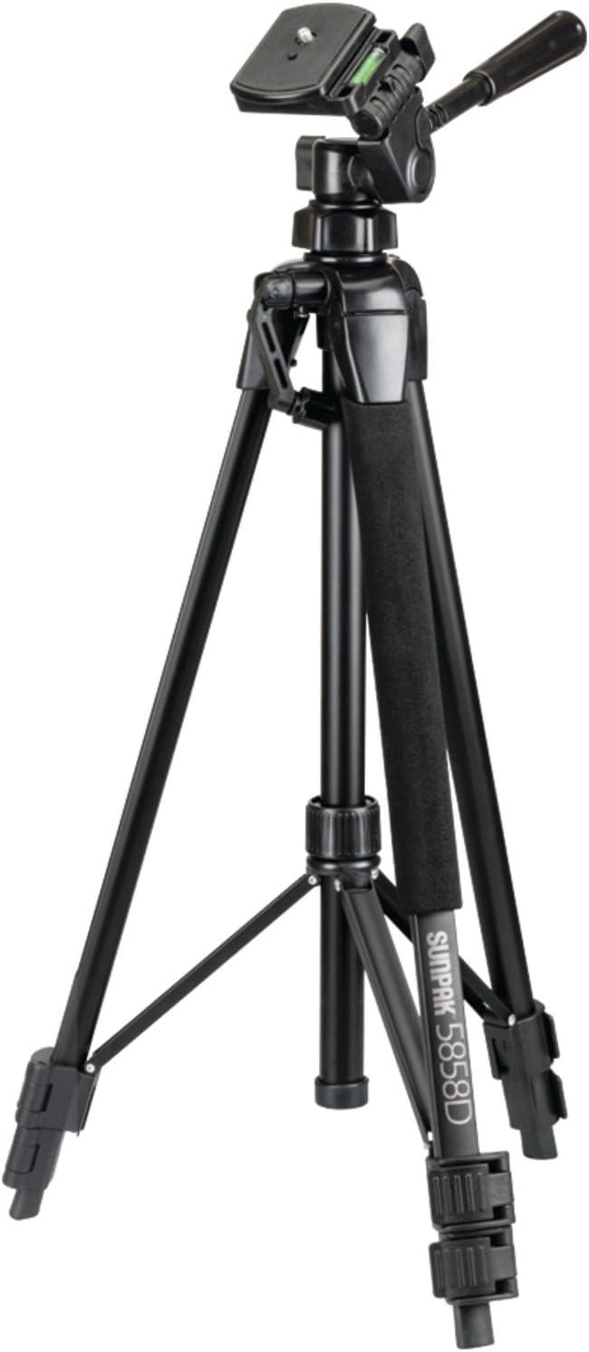 SUNPAK 5858d Photo/Video Tripod, Black (620-585)