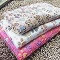 Sunlilee Paw Print Thick Warm Fleece Soft Pet Blanket Dog Puppy Sleep Beds Mat Pet Cat Cushion by Sunlilee