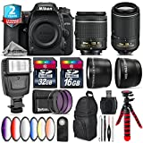 Holiday Saving Bundle for D7500 DSLR Camera + 55-200mm VR II Lens + AF-P 18-55mm + 6PC Graduated Color Filter + 2yr Extended Warranty + 32GB Class 10 Memory + Backpack + 16GB - International Version