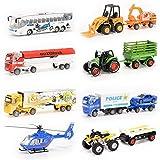 Diecast Metal Car Models Children Toy Vehicles Playset, 8Pcs